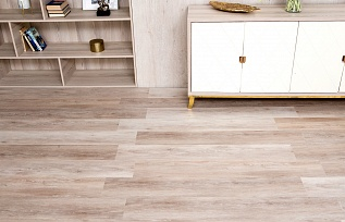 Плитка ПВХ WONDERFUL VINYL FLOOR DE1715-19 Экрю(1210Х180Х4,5Х0,5мм) 1,96м2/уп, 9 шт./упк